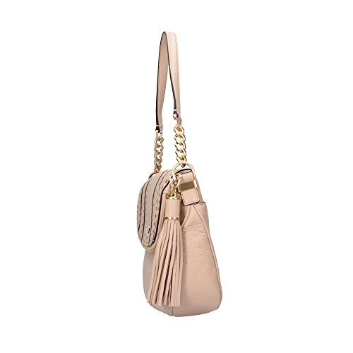 Michael Kors 35H6AG4L2L OYSTER Borsa A Tracolla Donna Beige