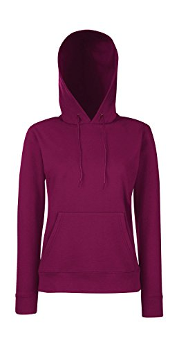 Fruit of the Loom - Classic Lady-Fit Kapuzenpullover 'Hooded Sweat' XS,Burgundy