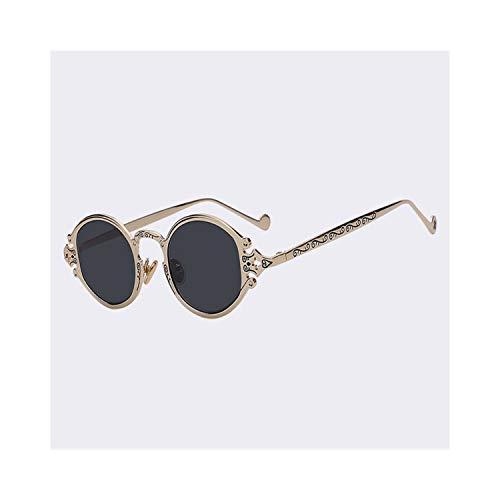 FGRYGF-eyewear2 Sport-Sonnenbrillen, Vintage Sonnenbrillen, NEW Oval Sunglasses Women Luxury Brand Designer Shades Sun Glasses Men Metal Round Eyewear Vintage Sunglass Gold w black