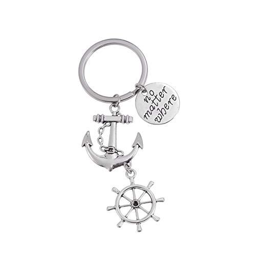 Schlüsselanhänger Anker Kompass Form Auto Schlüsselanhänger Handtasche Anhänger Deko für Kinder Abschlussfeier Party Gastgeschenke Freunde Geschenke ()