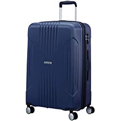 American Tourister Tracklite - Spinner Medium Expandable Bagage Cabine, 67 cm, 82 liters, Bleu (Dark Navy)