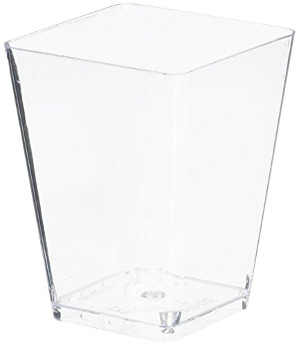 (Tosnail 5 Oz Tall Square Clear Plastic Dessert Tumbler Cups - by Tosnail)
