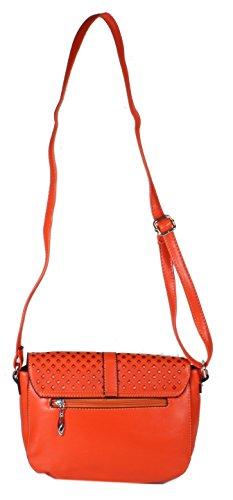 Palamona MittelFormat Umhängetasche Ausgehtasche Handtaschen LaserCut Muster Abendtasche Crossover Bags Damen Freizeit Schultertaschen Lederimitat 27x19x9 cm (B x H x T) orange