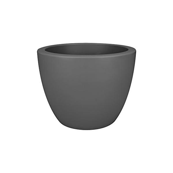 Elho Pure Soft Round Macetero Redondo, Anthracite, 29x29x23,4 cm