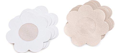 Merry Style Satin Brustwarzenabdeckung 4-er Pack PS07 (Hautfarbe, One Size)