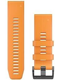 Garmin 010–12741–03Quickfit 26Bracelet de Montre–Bleu Cyan Coque en Silicone–Accessoire Band pour Fenix 5x Plus/Fenix 5x
