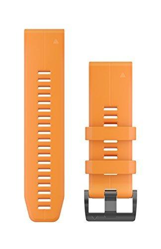 Garmin 010-12741-03 Quickfit 26 Uhrenarmband, Cyanblau, Silikon, Zubehör Band für Fenix 5X Plus/Fenix 5X