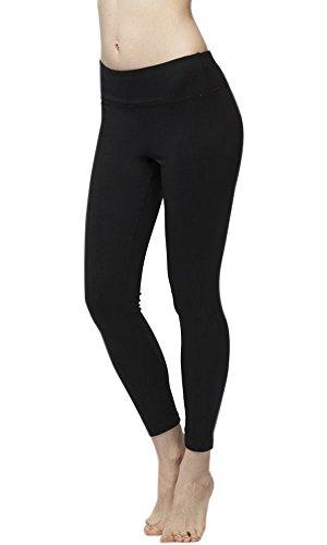 iLoveSIA Pantalon de yoga pour femme Multicolore - Noir Legging cheville