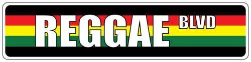 BridgetWhy50 Reggae Regenbogen-Straßenschild, Metall, Aluminium, Straßenschild, Wanddekoration, Metallschild, Vintage-Mann, Höhle Garage,10 x 45 cm (Zeichen Höhle Mann Lustige)