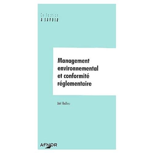 Management environnemental et conformité réglementaire