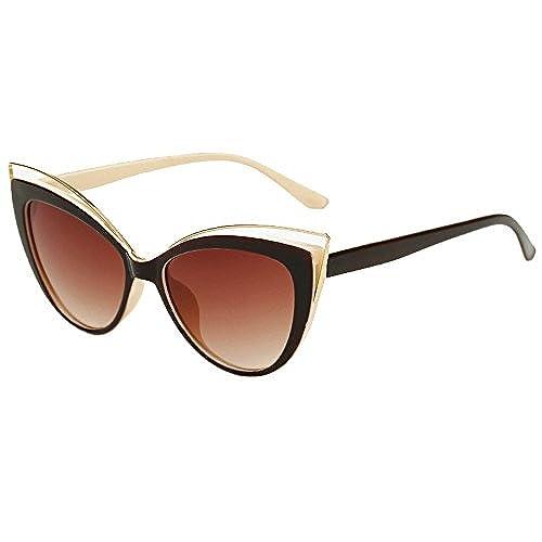 Culater® Hommes Femmes Place Vintage Lunettes de lunette miroir Lunettes Lunettes de sport en plein air (B) vmJOKaON1X