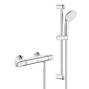 Grohe 34565000 Grohtherm 800 – Sistema de ducha con termostato, 600 mm