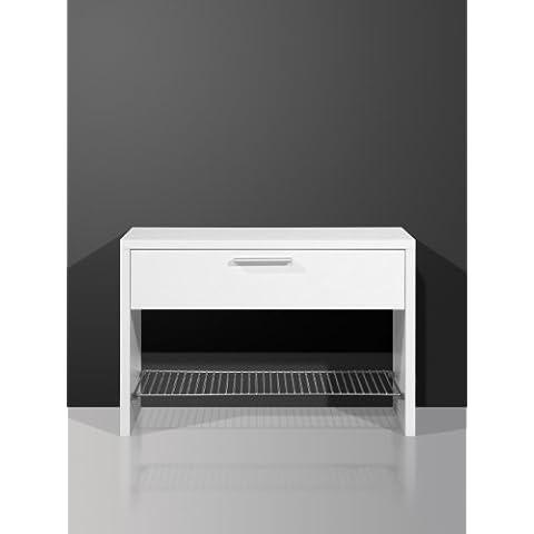Germania, Panca scarpiera, 76 x 50 x 35 cm, colore: Bianco