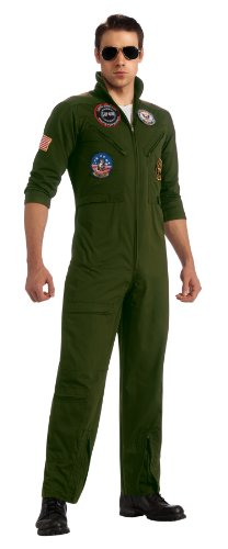Kostüm Gun Top Flight - Top Gun Flight Suit Costume Adult Small
