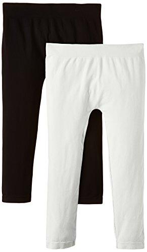 Luigi di Focenza Damen Matt Fein Legging 1712, 2er Pack, 100 DEN, Gr. One size, Weiß (weiß-schwarz 099/001)