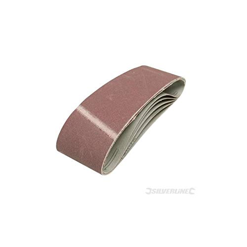 20 75mm x 533mm Mixed Grade Sanding Belts Sander fits for Bosch Skil 75 533 mm all grade 40g 60g 80g 120g by Silverline Tools