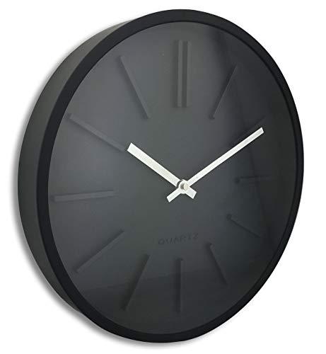 Orium 11045Goma Wanduhr Kunststoff schwarz 35x 4,8x 35cm