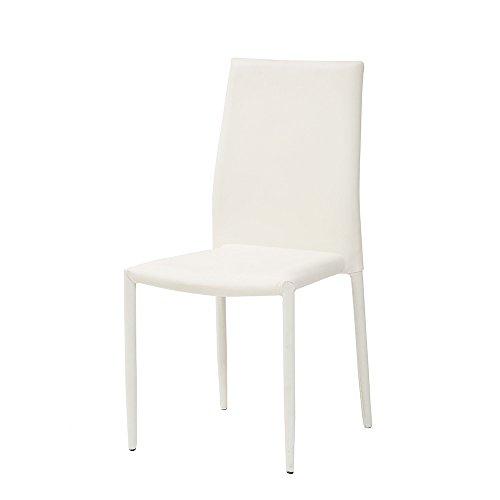 Cribel dani plus sedia, finta_pelle, bianco, 46x50x89 cm, 6 unità