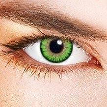 "Farbige Kontaktlinsen ""Dual Tone Green"" grüne Kontaktlinsen farbig ohne Stärke mit Kontaktlinsenbehälter"