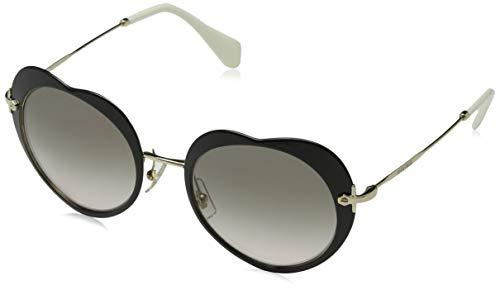 Miu Miu Damen 0MU54RS 1AB4K0 52 Sonnenbrille, Schwarz (Black/Pink Grey),