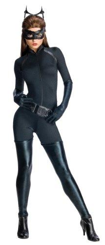 The Dark Knight Rises Catwoman Damenkostüm Lizenzware schwarz (Catwoman Kostüme Erwachsene)