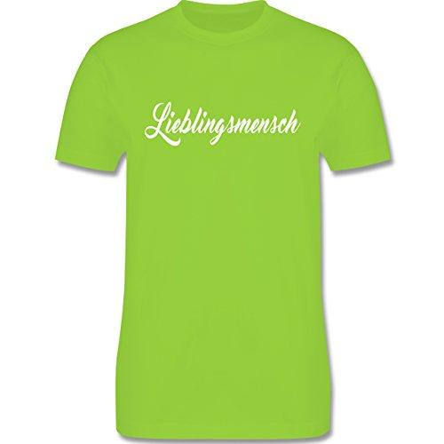 Statement Shirts - Lieblingsmensch - Herren Premium T-Shirt Hellgrün