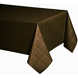 Mantel anti manchas jacquard modelo Gales - calidad 50%algodón 50%poliéster, resinado y con Teflón de Dupont® - 150x200 - marrón chocolate
