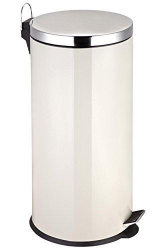 Premier Housewares Pedal Bin - 30 L, Cream by Premier Housewares