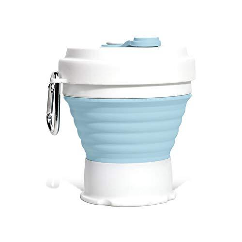 Dark Area Faltbare Wiederverwendbare Kaffeetasse Aus Silikon Tragbare Leichte Camping-Tasse Mit Deckel Erweiterbare Wassertasse Zum Wandern Im Reisesport 350 Ml Kaffeetasse Auslaufsicher Bpa-Frei