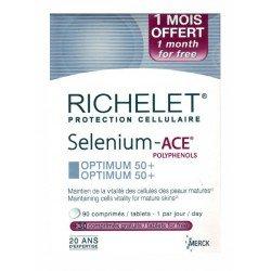 Richelet Protection Cellulaire Selenium-Ace Optimum 50+ 90 Comprimés + 30 Comprimés Offerts
