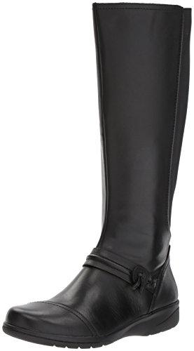 CLARKS Women's Cheyn Whisk Riding Boot, Black, 6 M US Clarks Womens Heels