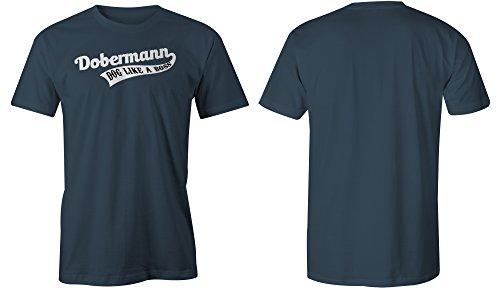 Dobermann Dog Like A Boss ★ Rundhals-T-Shirt Männer-Herren ★ hochwertig bedruckt mit lustigem Spruch ★ Die perfekte Geschenk-Idee (03) dunkelblau