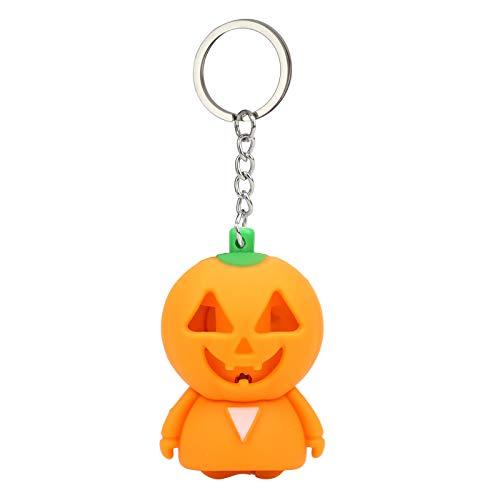 ALIKEEY Halloween Kürbis Cartoon Schlüsselbund mit LED-Licht Sound Keyfob Kinder Spielzeug Geschenk ()