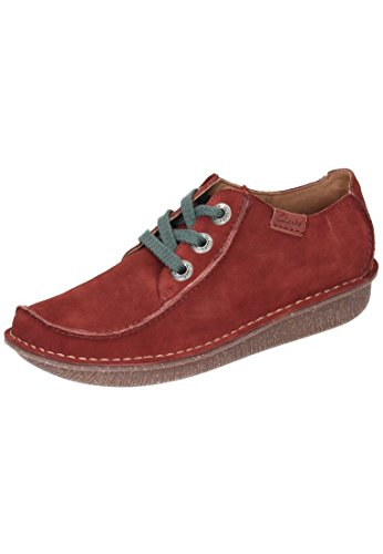 Clarks  Funny Dream, Derby femme Rouge