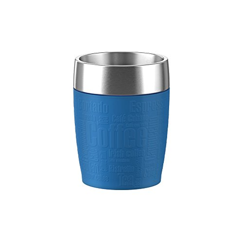 Emsa 514517 Isolier-Trinkbecher, Mobil genießen, 200 ml, Dreh- Trinkverschluss, Himbeer, Travel Cup