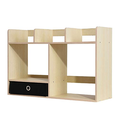 Haoli Kleines Bücherregal 3 Regal Display Holz Bücherregal Bücherregal Niedriges Bücherregal Massivholz Bücherregale Einheit 60 * 40 cm (Farbe : Weiß) -