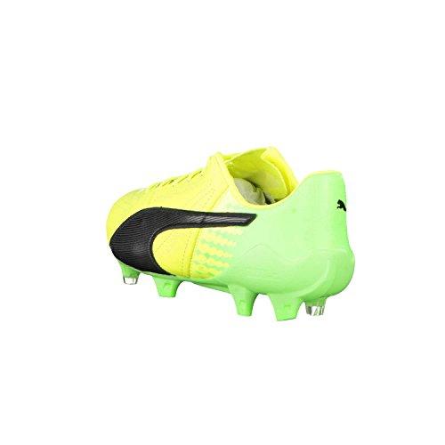 evoSPEED 17 SL FG Cuir - Crampons de Foot - Jaune/Noir/Vert Gecko green