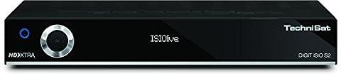 TechniSat DIGIT ISIO S2 - HDTV Twin-Satellitenreceiver (PVR-Funktion via USB oder im Netzwerk, Sat-Receiver, Timeshift, UPnP-Livestreaming, 3x USB 2.0, CI+), schwarz