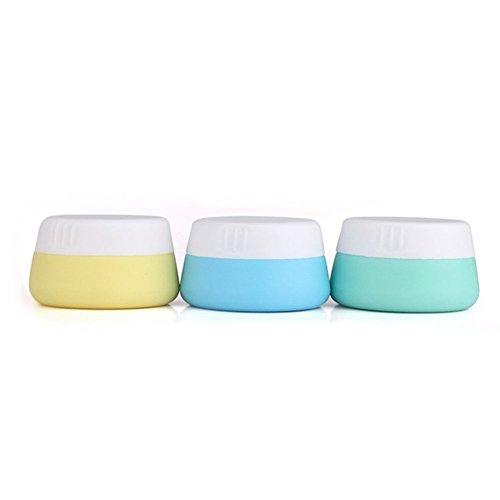 WOSON Lot de 3 20 ML de conteneurs de Cosmétique de Voyage en Silicone Vide Maquillage Crème Visage Bouteilles bocaux