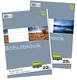Ursus Basic 040450020 Schulblock LIN20 A4 50 Blatt 70g/qm blanko