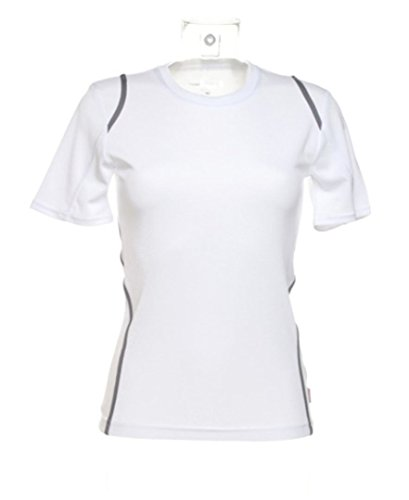Gamegear Damen Gamegear Cooltex t-shirt kurzärmlig Weiß/ Grau