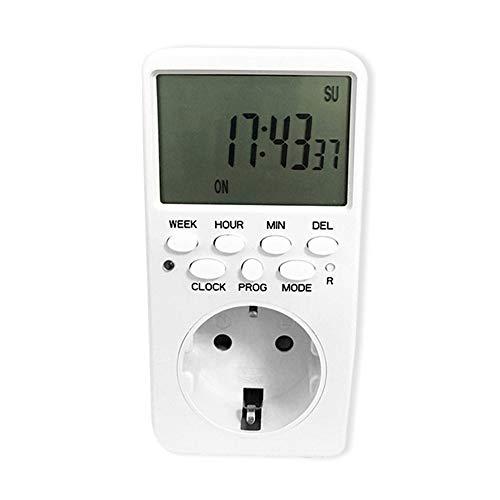 Timer-Buchse - Rechteckige Timing-Digital-Buchse Programmierbare LED-Anzeige Timer-Schalter WöChentlicher Digital-Timer