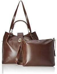 Verobelle Women's Handbag & Sling Bag Combo (Brown) (Set of 2)