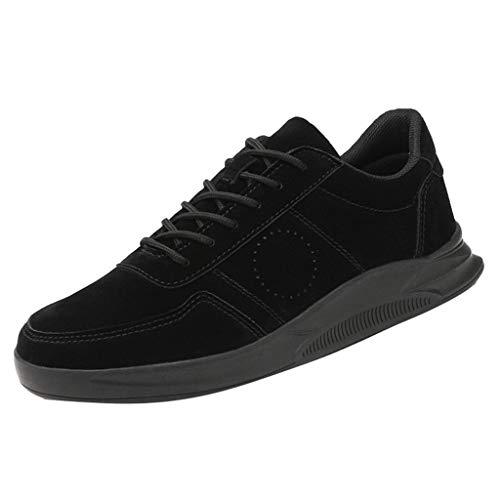Anglewolf Herren Sneaker Laufschuhe Sportschuhe Air Turnschuhe Running Fitness Outdoors StraßEnlaufschuhe Farben Schuhe Trainer Leichte Profilsohle(Schwarz,44 EU) -