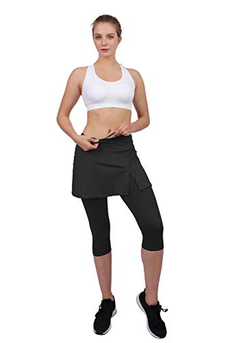 HonourSport Pantalones Falda Mujer Corte Hendidura