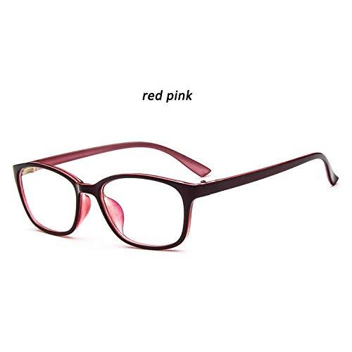 YMTP Brillen Rahmen Quadratische Gläser Anti Fatigue Plain Gläser Für Frauen Männer Myopie Brillen