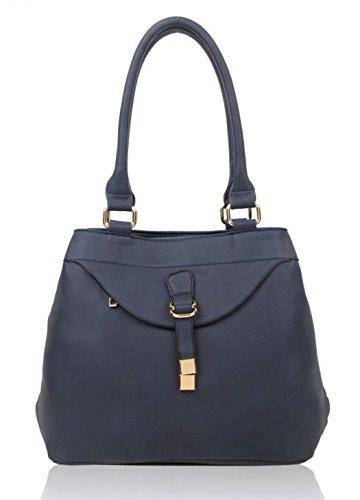 LeahWard Frauen Große Schultertaschen Damen Kunstleder Taschentaschen Handtaschen für die Schule Urlaub CW14110 (Blau/Marine Große Umhängetasche für Frauen)