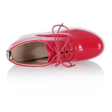 Confortevole ed elegante piatto scarpe donna Appartamenti Primavera Estate Autunno Inverno altre similpelle Office & Carriera Party & abito da sera tacco piatto di pizzo nero su rosso bianco Red