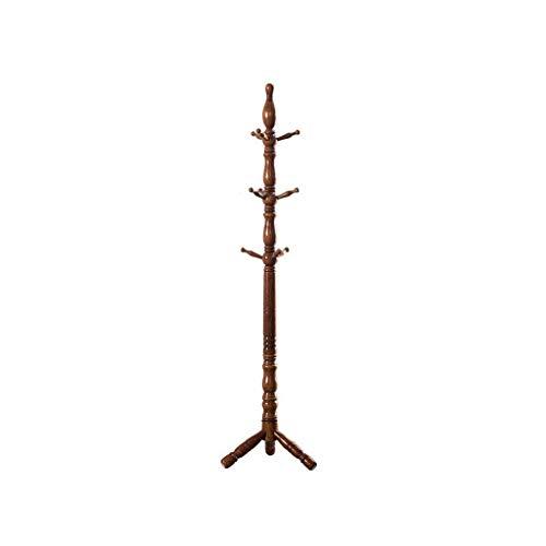 Willsego Garderobe-Boden-Landungs-Feste hölzerne Aufhänger-Schlafzimmer-Kleidungs-Regal-mutige Plus Hohe Walnuss-Farbmode (Farbe : -, Größe : -)