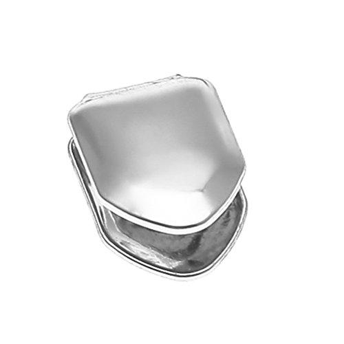 Healifty Vergoldete kleine einzelne Zahnkappe Hip Hop Zähne (Silber) - Kappen Silber Zähne